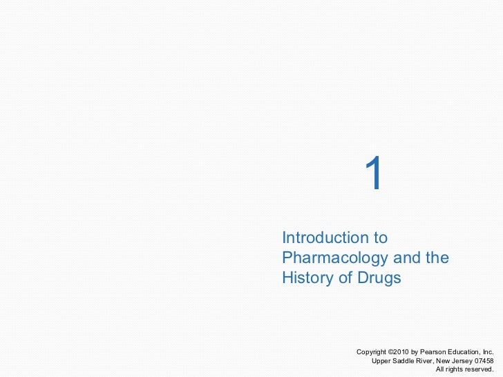 1 Introduction to Pharmacology and the History of Drugs
