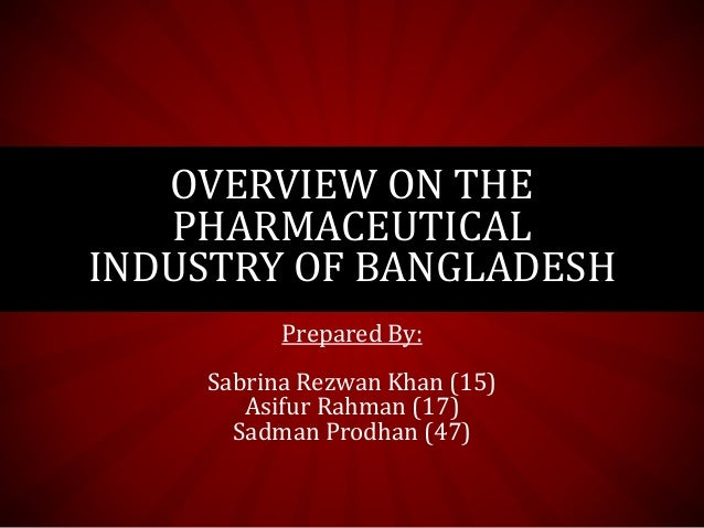 Problems of bangladesh pharmaceutical industry