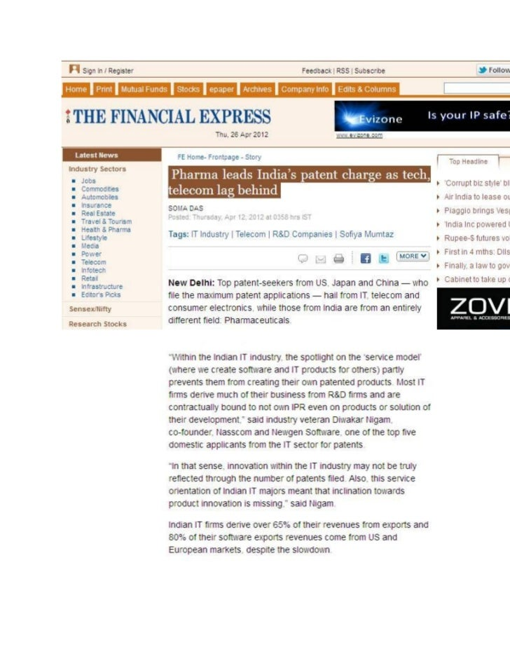 For the Complete Story please visit:http://www.financialexpress.com/news/pharma-leads-indias-patent-charge-as-tech-telecom...