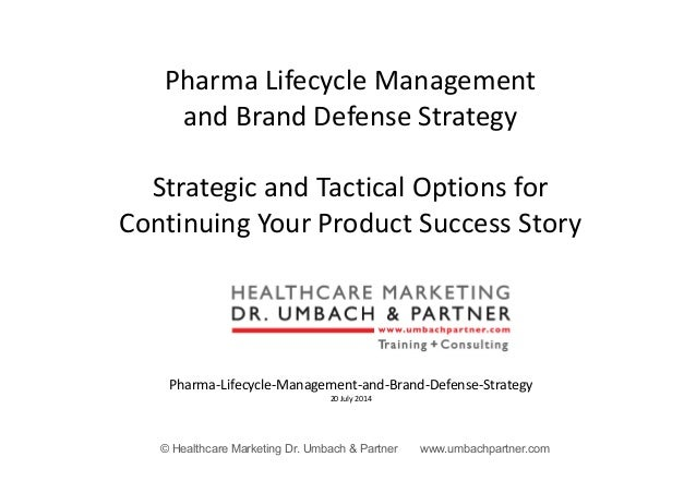© Healthcare Marketing Dr. Umbach & Partner www.umbachpartner.com Pharma Lifecycle Management and Brand Defense Strategy S...