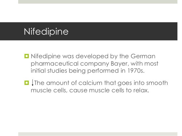 Comparison of Nifedipine Alone and With Diltiazem or ...