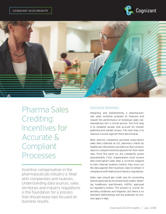 Pharma Sales Crediting: Incentives for Accurate & Compliant Processes