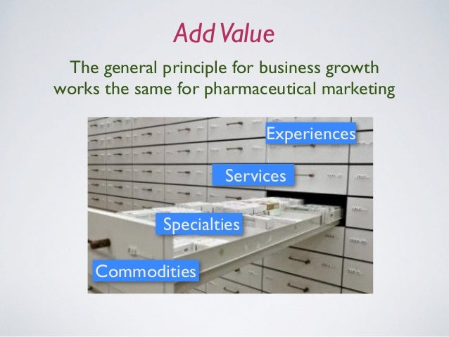 AddValue The general principle for business growth works the same for pharmaceutical marketing Commodities Specialties Ser...