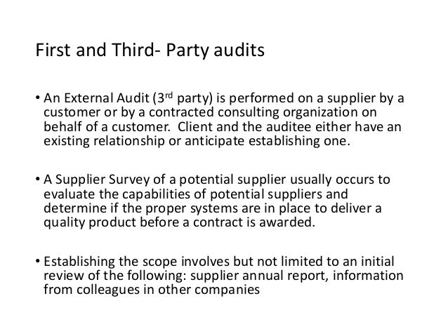49 First And Third Party Audits