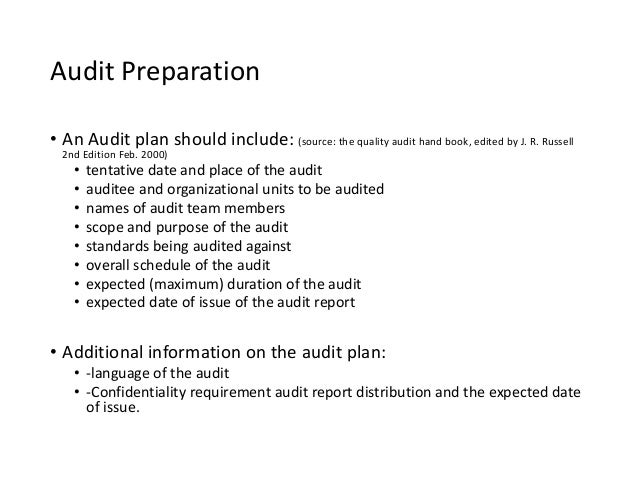 Sample Audit Plan Template Here Is Preview Of This First Sample