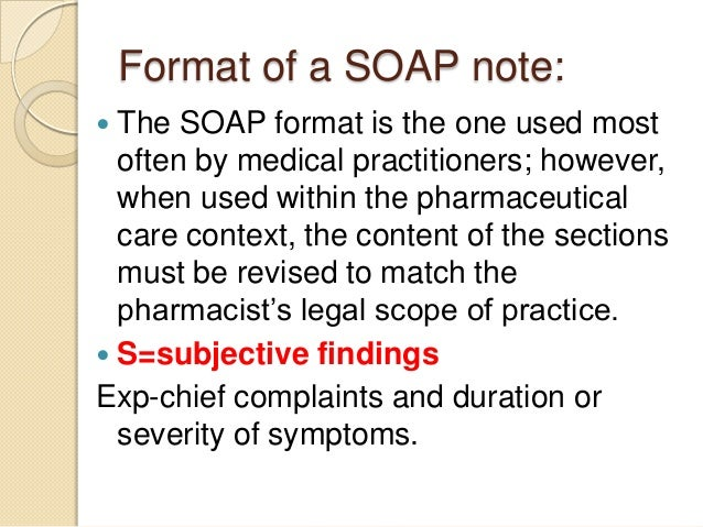 pharmacy soap note example