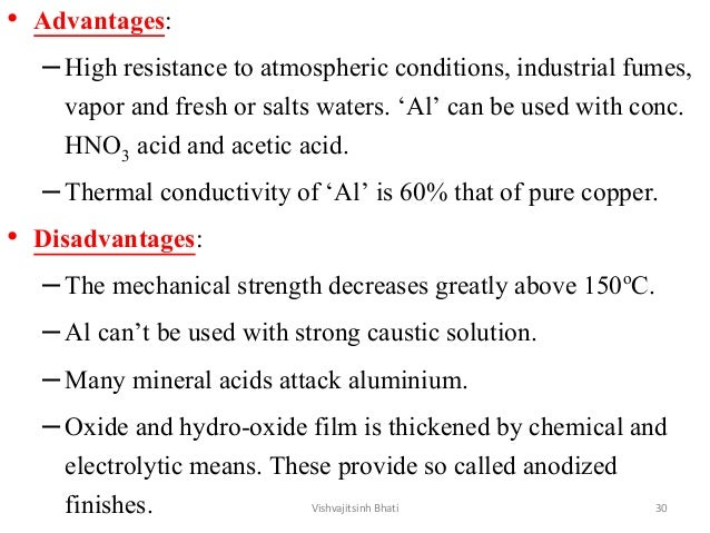 • Advantages: –High resistance to atmospheric conditions, industrial fumes, vapor and fresh or salts waters. 'Al' can be u...