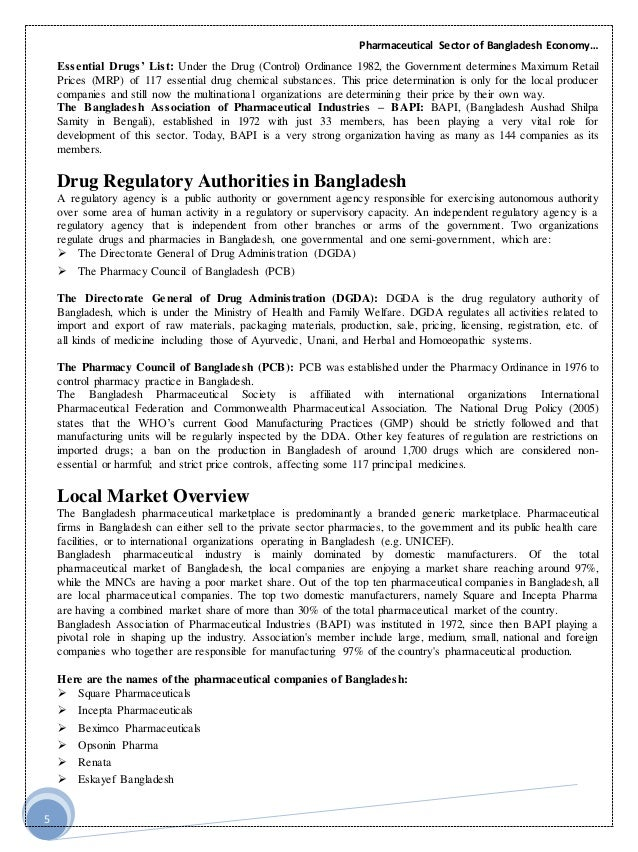 pharmaceutical market statistics in bangladesh They have been the largest pharma market holders since 1985, a testament to their unsurpassed quality in the nation the conglomerate, however, does not limit itself to sheer size they have been the trailblazers in the industry square pioneered the export market in bangladesh, they constructed the first.