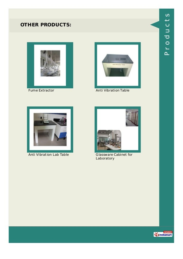 OTHER PRODUCTS: Fume Extractor Anti Vibration Table Anti Vibration Lab Table Glassware Cabinet for Laboratory Products