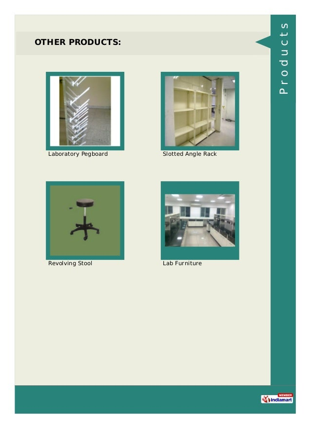 OTHER PRODUCTS: Laboratory Pegboard Slotted Angle Rack Revolving Stool Lab Furniture Products