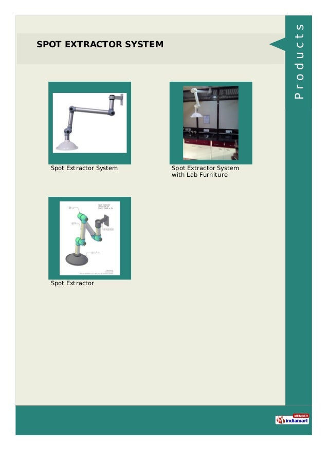 SPOT EXTRACTOR SYSTEM Spot Extractor System Spot Extractor System with Lab Furniture Spot Extractor Products