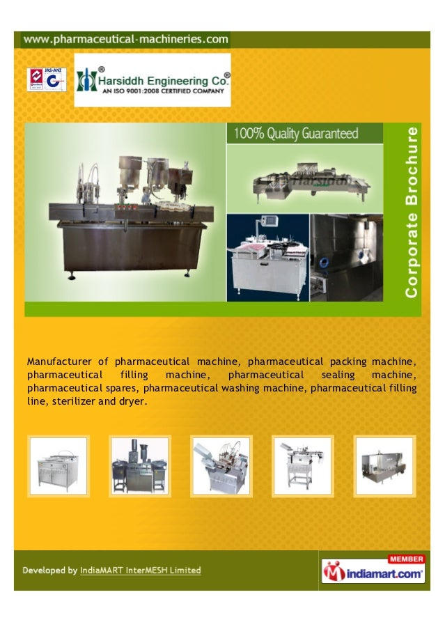 Manufacturer of pharmaceutical machine, pharmaceutical packing machine,pharmaceutical       filling machine,  pharmaceutic...