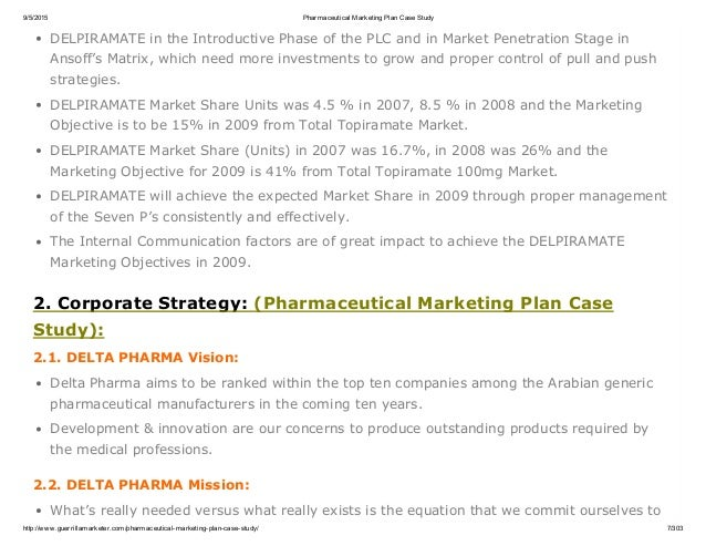 Biopharma case study - Term paper Sample