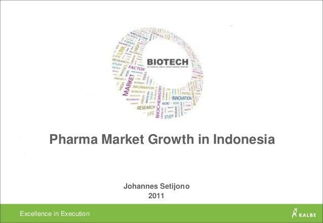Pharma Market Growth in Indonesia                          Johannes Setijono                                2011Excellence...