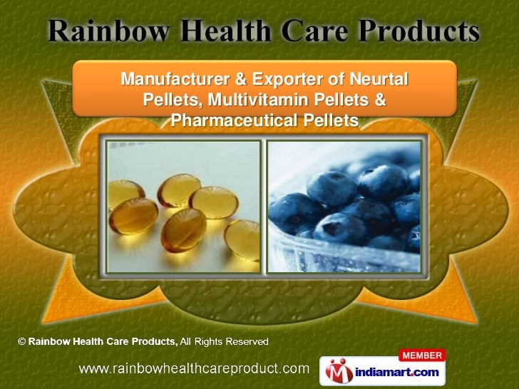 Manufacturer & Exporter of Neurtal  Pellets, Multivitamin Pellets &     Pharmaceutical Pellets