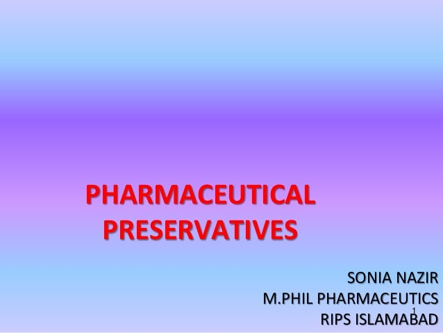 Pharmaceutical preservatives