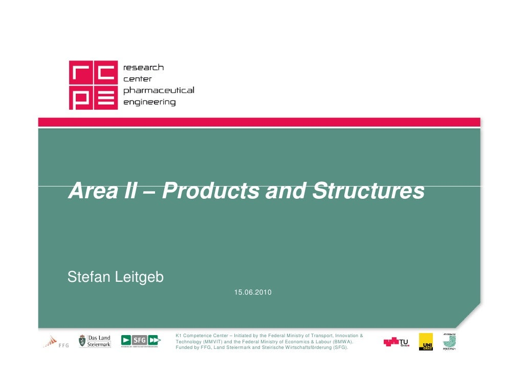 Area II – Products and Structures   Stefan Leitgeb                                           15.06.2010                   ...