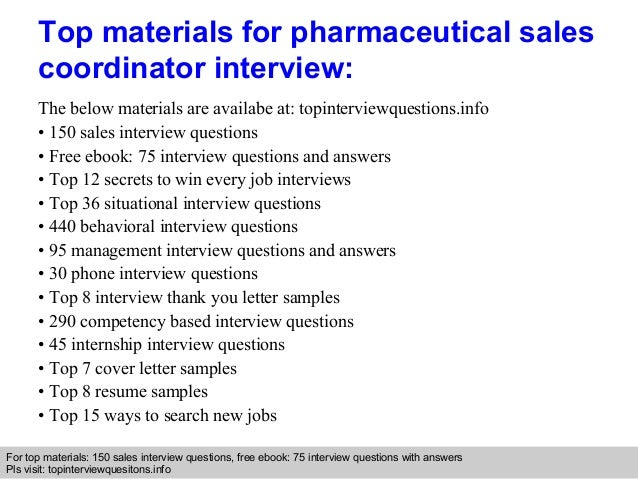 pharmaceutical sales interview questions and answers