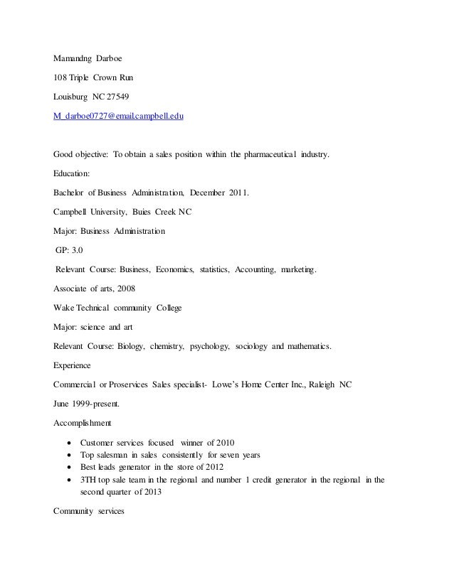 Pharmaceutical Sales Rep. Resume (1)