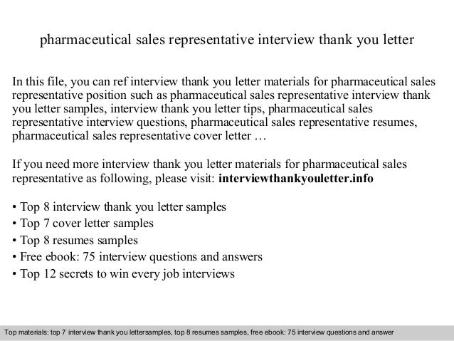 Sample Pharmaceutical Sales Representative Cover Letter. Cover