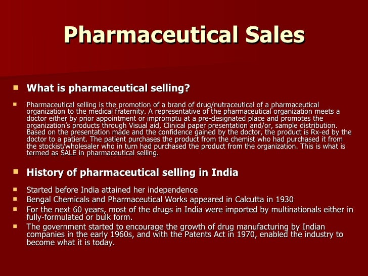 pharmacetical sales