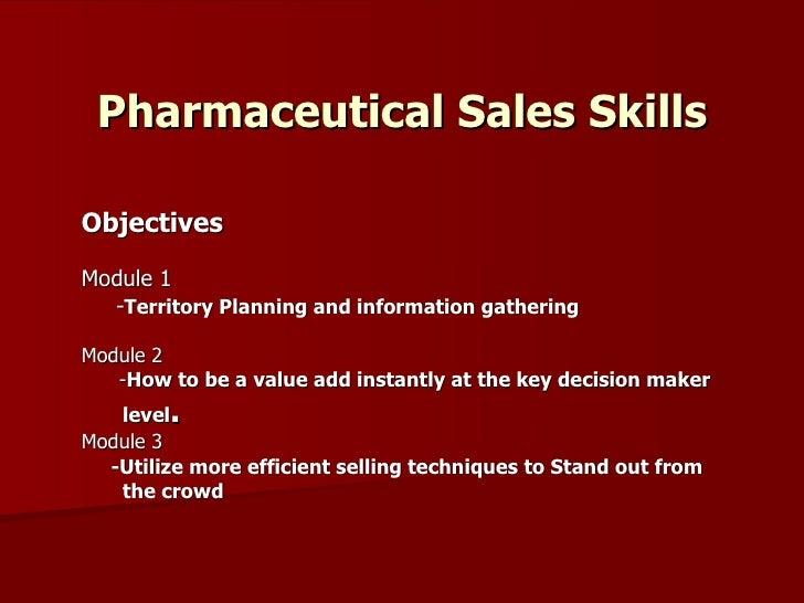 pharmacetical sales