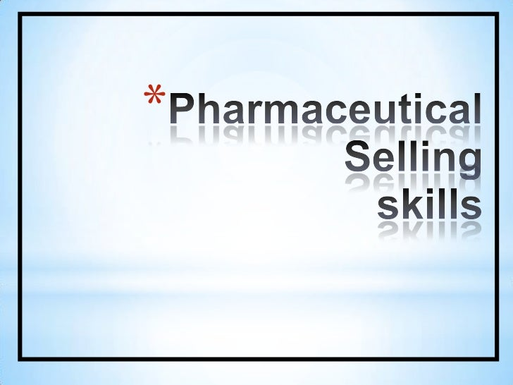 PharmaceuticalSellingskills<br />