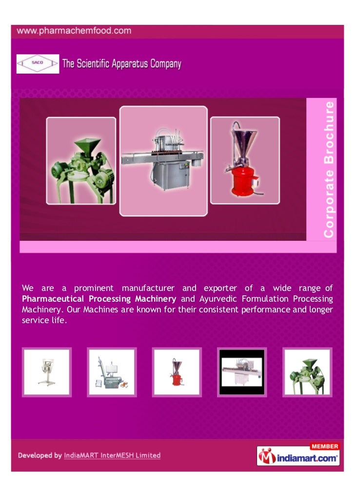 We are a prominent manufacturer and exporter of a wide range ofPharmaceutical Processing Machinery and Ayurvedic Formulati...