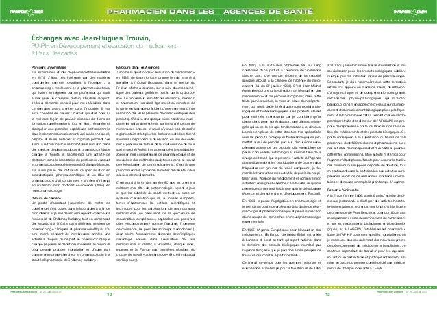 Échanges avec Jean-Hugues Trouvin,  PU-PH en Développement et évaluation du médicament  à Paris Descartes  Parcours univer...