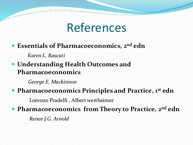 PRINCIPLES OF PHARMACOECONOMICS EPUB
