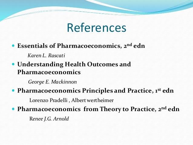understanding health outcomes and pharmacoeconomics pdf
