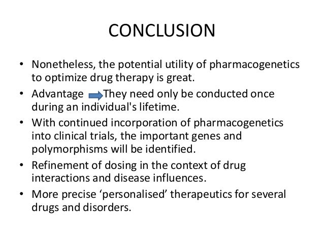 essay on pharmacogenomics