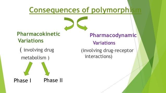 Pharmacokinetic Variations ( involving drug metabolism ) Pharmacodynamic Variations (involving drug-receptor interactions)...