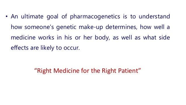 Pharmacogenetics And Individual Variation Of Drug Response