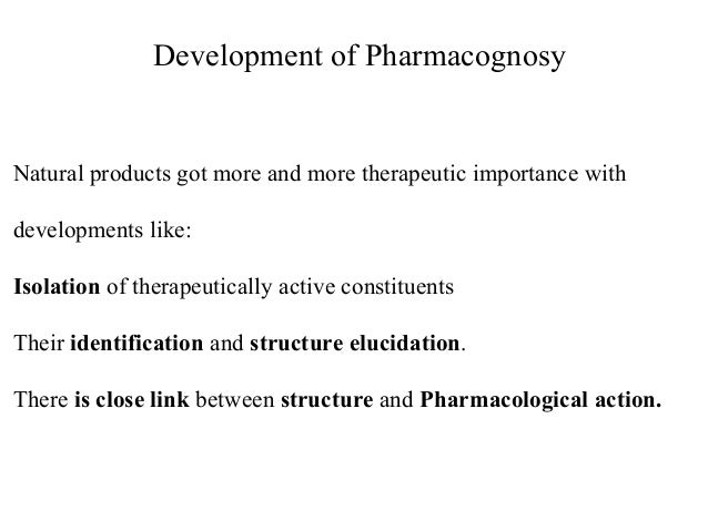 pharmacognosy chemical compound and drugs Journal of pharmacognosy and phytochemistry 2014 2 (5): 115-119 concept of issn 2278-4136  at present due to advancement in the chemical knowledge of crude drugs various methods like botanical, chemical, spectroscopic and biological methods are used for estimating active  compounds with similar polarity phytopharmaceutical and secondary.