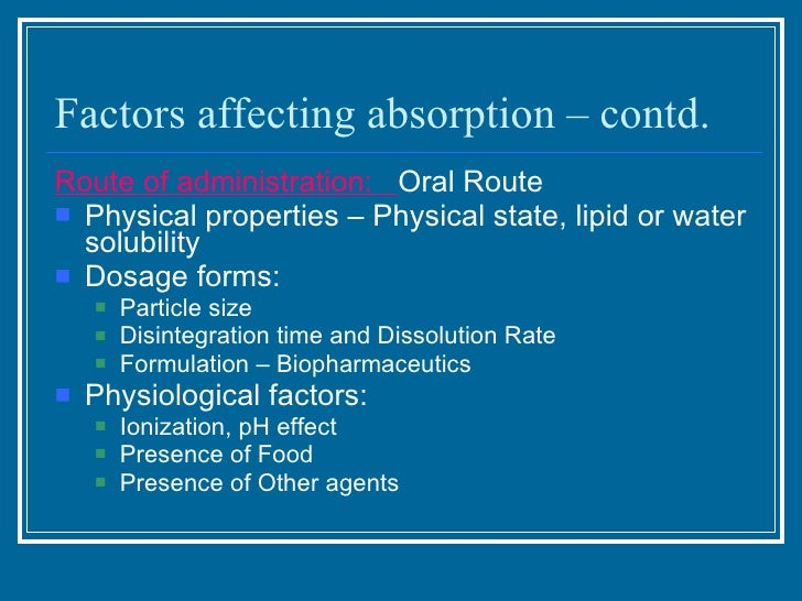 physiological factors affecting drug absorption pdf
