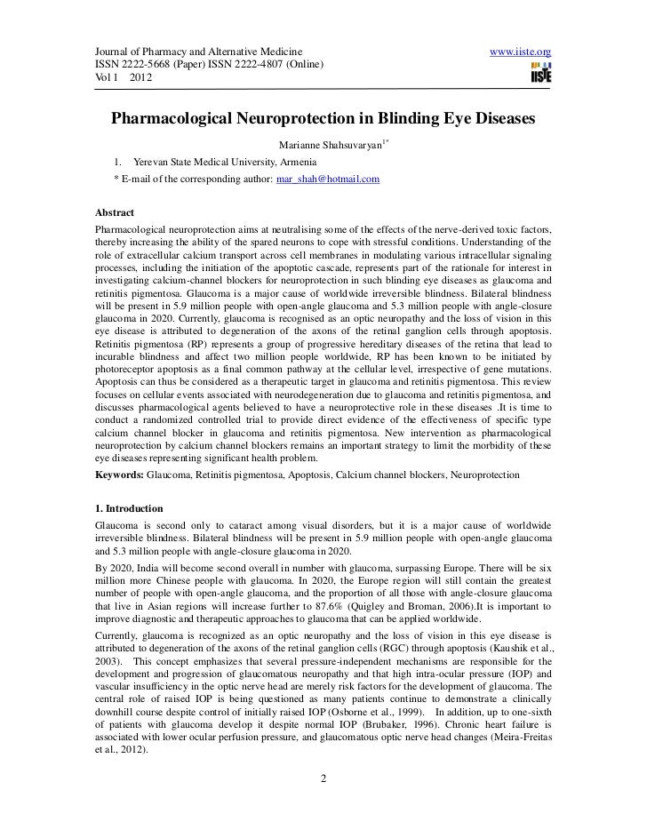 Journal of Pharmacy and Alternative Medicine                                                  www.iiste.orgISSN 2222-5668 ...