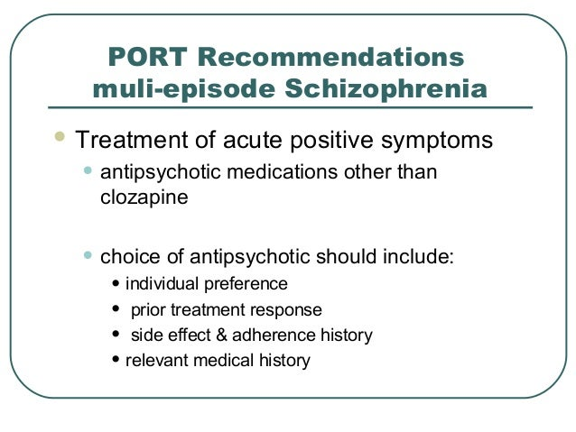 Schizophrenia Research and Treatment