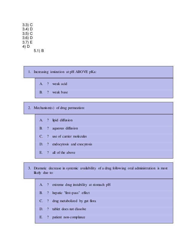 Pharmacology MCQ With Solution