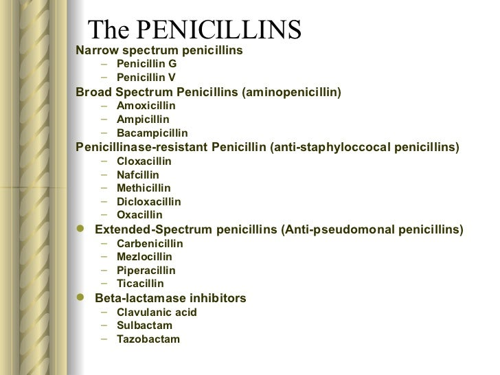 penicillin other drugs in same class