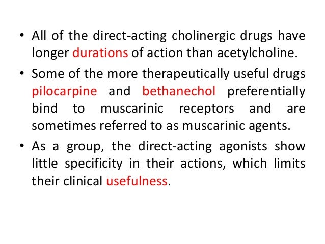 the cholinergic drug Cholinergic and anticholinergics  they are also called parasympatholytics, cholinergic blocking agents, and cholineric or muscarinic antagonists.