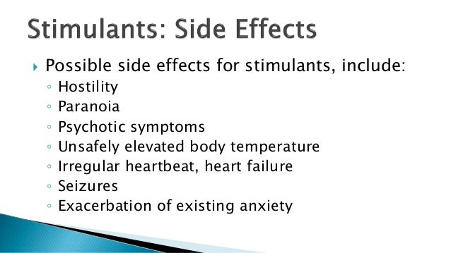 Effects Of Stimulants Pharmacology stimulant...