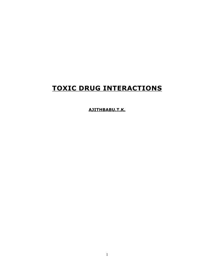 TOXIC DRUG INTERACTIONS       AJITHBABU.T.K.             1