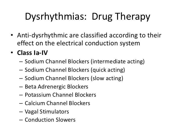 Pharmacology dysrhythm...