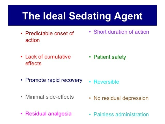 sedating effects