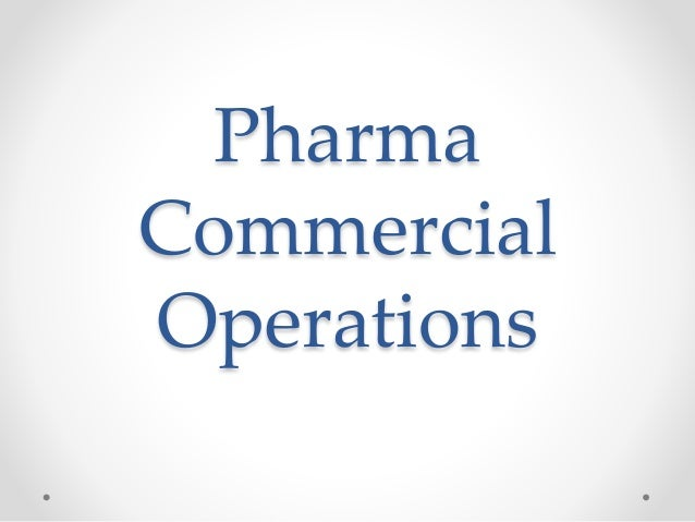 Pharma Commercial Operations