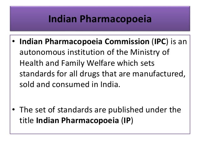 Pdf indian pharmacopoeia 1996