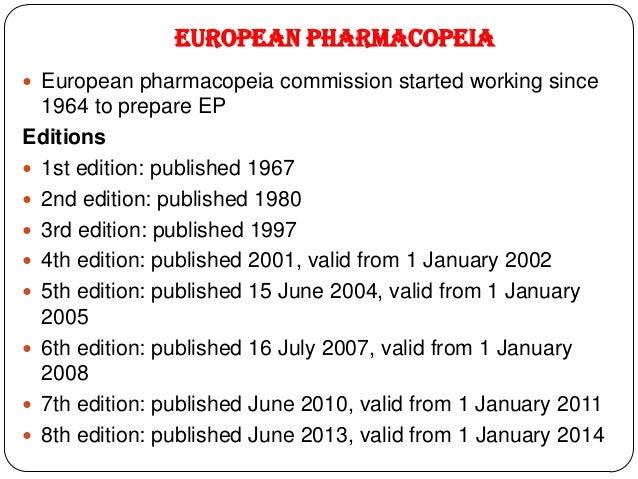 Pharmacopoeias united state pharmacopoeia 29 fandeluxe Gallery
