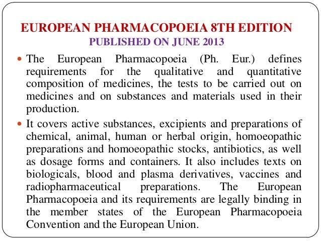 Pharmacopoeias 31 european pharmacopoeia 8th edition fandeluxe Gallery