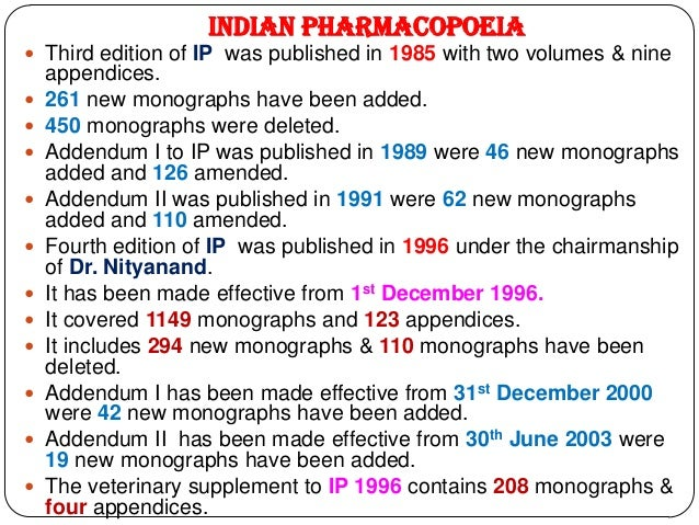 Pharmacopoeias 5 indian pharmacopoeia third edition of fandeluxe Choice Image